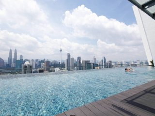Breathtaking KLCC View from KL's Best Infinity Pool