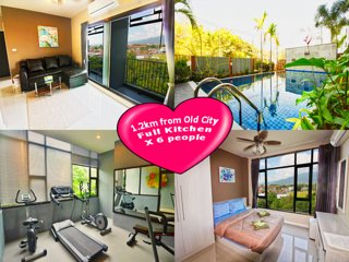 Luxury Two-Bedroom v/ Mountain View (Pool/Gym)