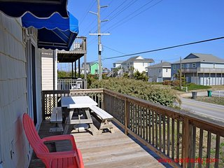 Streetside Sun Deck with Stationary Awnings