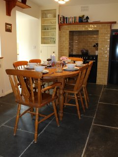 Kitchen/breakfast room packed with original features, rangemaster, 6ft fridge/freezer