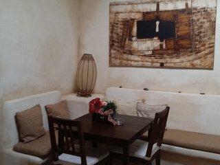 Sala de estar de Las Maretas; detalle