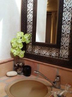 Detalle del lavabo Las Maretas