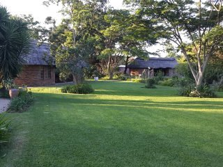 Garden view towards Lodges