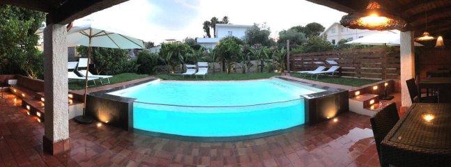 Villa Sea Sicily Elisabetta Luxury pool, semi detached country house at sea