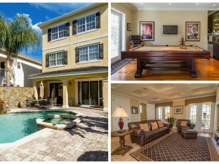 Exquisite Luxury Home Saltwater pool/spa, minutes to WDW/ FREE WIFI
