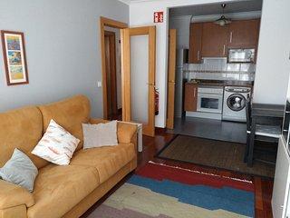 Apartamento primera linea Playa San Lorenzo con Garaje y Wifi. Admite mascotas.