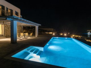 Night view from the villa