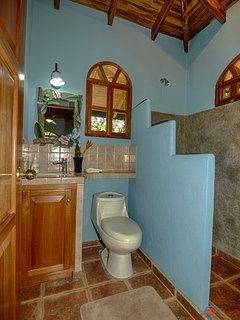 View of the full bath in the Guest House.