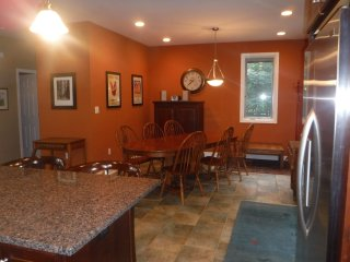 Dining room, there is another dining/game table in the living room