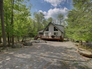 Chalet situated on double lot for more privacy.