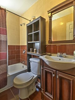 There are 2 bathrooms in the home.