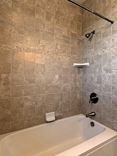 Choose between a bath or a shower at the end of an active day.