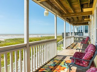 Vintage beachfront home w/ great views and beach access - dog-friendly!