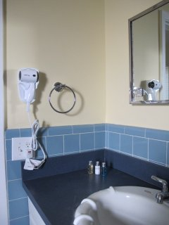 104 bathroom sink with hairdryer