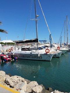 Caleta Marina . Catamaran trips available here.