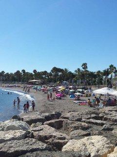 Caleta beach taken from the pier.