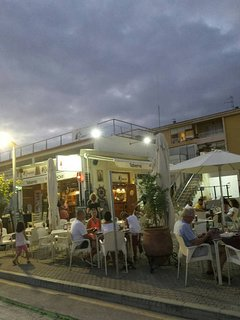 Camarote restaurant / bar at the Marina .  Live music on Saturday lunchtimes , great atmosphere.