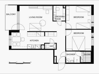 Matroskila, a cozy apartment with sauna and balcony!