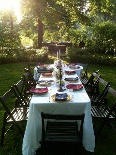 Summer alfresco dining