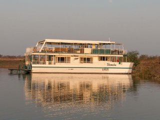 Takamaka Houseboat is a well maintained luxury boat with a swimming pool.