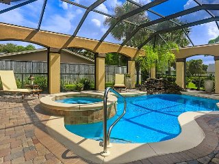BELLA ROSA! STEPS TO THE BEACH! WATERFALL POOL! 3 FIREPLACES! GOLF CART!
