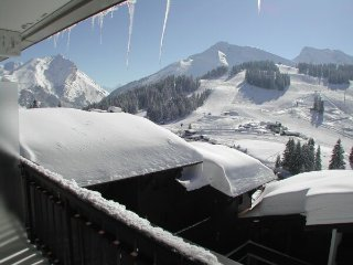 Delightful Alpine studio chalet with panoramic views, LaClusaz/Manigod Wi-Fi