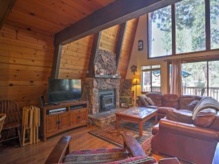 NEW! 6BR Tahoe Vista Cabin w/ Lake Views & Deck!