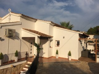 Our Stunning 4 bedroom Villa within a 10 minute walk of Moraira town and beach.