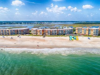 Topsail Dunes 3309 Oceanfront! | Community Pool, Tennis Courts, Grill Area, Elev