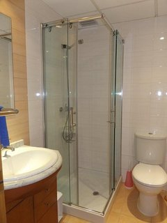 Master shower room.