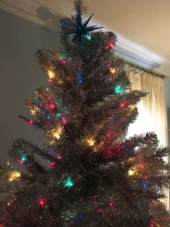 7 foot aluminum seasonal Christmas tree