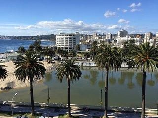 Espectacular apartamento con amplia vista al mar y a todo Viña frente al casino
