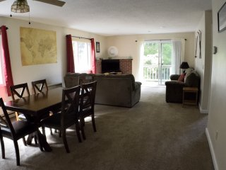 Clean, cozy, comfortable condo with cable and free WiFi; 10 mins from N Conway
