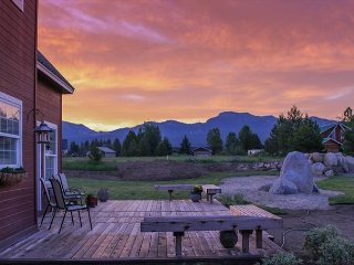 Large Farmhouse style home with beautiful mountain views & trailer parking