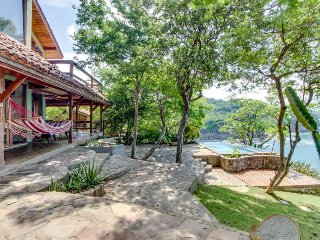 Gorgeous oceanfront getaway with private pool, secluded beach & great views!