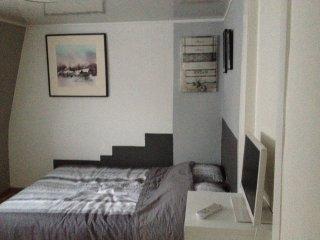 Deux chambres meublee tout confort, SDB attenante, coin cuisine, coin salon