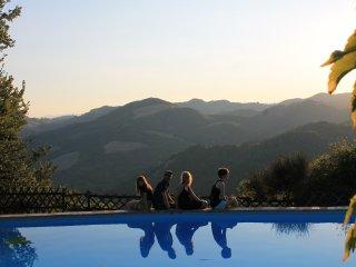 Country House Il Biroccio a Urbino. Dependance 'Poiana' 4 pax. Vista panoramica!