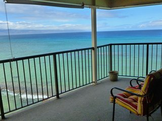 April 9-15 Promo|100% Oceanfront MAUI Condo|2BD 2BA|Must Luv Sound of Waves|