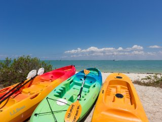 Sea Urchins is located on the island's best beach for kayaking & dolphin watching.
