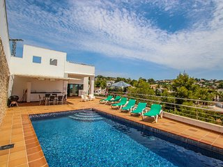 Elena Baladrar - sea view villa with private pool in Benissa