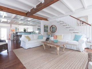 NEW: Stunningly Renovated Beach House with OCEAN VIEWS-steps to beach.  Pets OK!