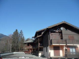 appt 5 pers. au pied des pistes vue Mont Blanc plein Sud parking et balcon