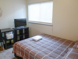 Top floor bedroom,  private bath, closet, TV, WiFi,  Chapel Hill, NC (Room #1)