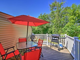 Lake George Townhome w/Water View, Patio & Grill!