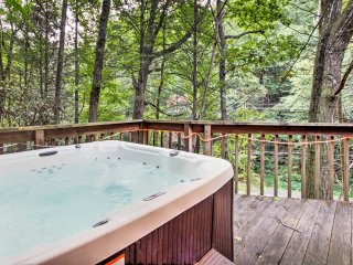 The home even features a private hot tub!