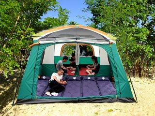 Family Tent at the White Sand Coral Beach