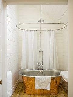 Homemade lavender bubble bath provided!