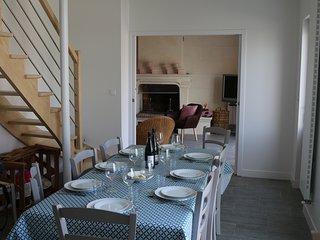Maison de famille pour 8-12 personnes dans le vignoble de Saumur-Champigny