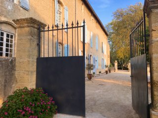 Historic Bastide  with Pool in Vineyard, Provence's Luberon,