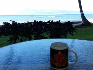 Morning coffee out on the lanai